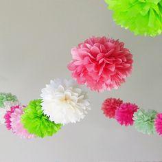 """6"""" 8"""" 10""""(15cm 20cm 25cm) 30pcs Tissue Paper Pom Poms Wedding Party Decor Paper Flower For Garden Supplies/Wedding Decoration"""