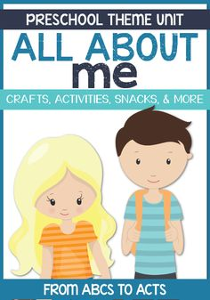 All About Me Preschool Theme Unit - Includes crafts, activities, printables, and more!