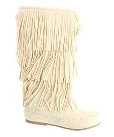 Look what I found on #zulily! Nude Southwest Fringe Boot #zulilyfinds