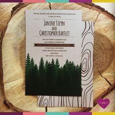 Forest inspired invitation.