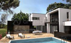 Maison Noé - Plan de maison Moderne réalisé par les architectes partenaires d'Archionline #house #modernhouse #archionline