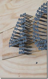 galvanized nails to create your home street number