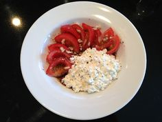 Yummy and healthy! Spicy Balsamic, Tomato  Cottage Cheese Snack