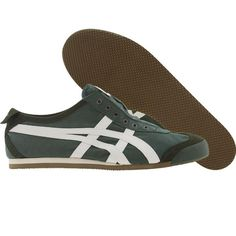 Asics Onitsuka Tiger Mexico 66 Slip On SV shoes in hunter green and white