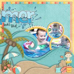 credit: A Day At The Beach by Kathy Winters Designs (GingerScraps); Summer WA Freebie by Chelle's Creations