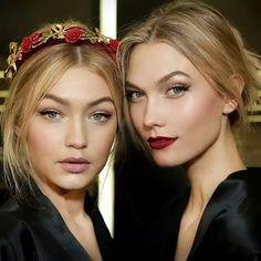 Beleza sempre impecável no desfile do Dolce & Gabbana - amo o cabelo, os enfeites, a pele iluminada, os olhos suaves, o batom...
