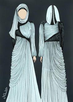 abaya design love the shirred panels