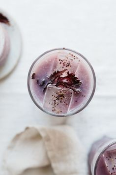 Cold-Brewed Shiso & Hibiscus Tea Iced Latte | dolly and oatmeal