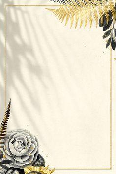 Black Flowers, Gold Flowers, Framed Leaves, Leaves Vector, Floral Border, Camellia, Free Illustrations, Ferns, Royalty Free Photos