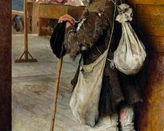 At School Doors - Nikolay Bogdanov-Belsky  1897