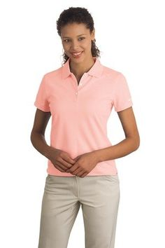 faf7f956 Nike Golf Ladies Dri-FIT Pique II Polo Golf Shirt 244613 Make aluminum pink  your new favorite color. Ice blue is another unique clothing option.