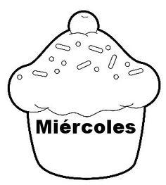Menta Más Chocolate - RECURSOS PARA EDUCACIÓN INFANTIL: Carteles de LOS DIAS DE LASEMANA (Pasteles)