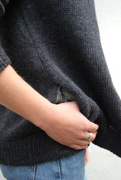 Primoeza cardigan with lined pockets.  I Would love to knit a cardigan like this