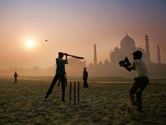 Taj Mahal at Sun Rise.