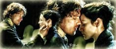 Fan art by © Geno Acedo of Jamie and Claire