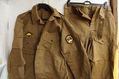 54-3-USSR-1991-Original-Army-Panzer-Tank-SUIT-sand-Uniform-Art-3303-chevron