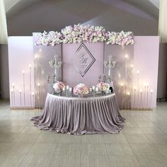 Ideas Party Table Mariage For 2019 Backdrop Decorations, Party Table Decorations, Wedding Decorations, Backdrop Ideas, Purple Wedding, Wedding Colors, Dream Wedding, Trendy Wedding, Wedding Flowers