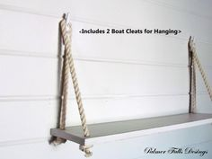 Swing Rope Shelf / Nautical Nursery / Beach House / Lake House / Home Decor / Wall Shelf / Nautical Decor / Bathroom Shelf / Kitchen Shelf on Etsy, $55.00