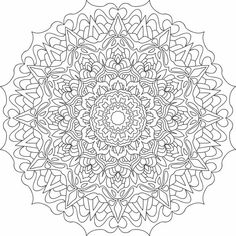 Mandala nr 12 for coloring