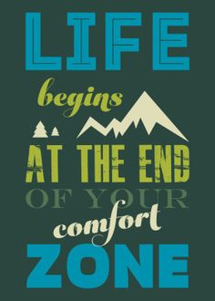 Life begins at the end of your comfort zone. The design: Vintage Typography style lettering in green by Stoian Hitrov. Metal posters available on Displate.com. #motivation #motivationalquotes #quotes #inspiration #inspirational #mind #positive #print #poster #interior #decor #mondaymotivation #motivationmonday #hustle #business #success