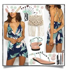 """""""yoins playsuit"""" by teto000 ❤ liked on Polyvore featuring MAC Cosmetics and Nails Inc."""