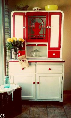 Country kitchen~Hoosier cabinet