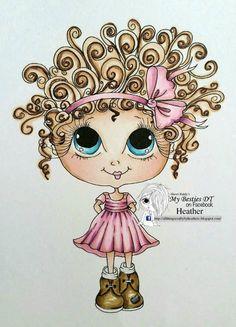 INSTANT DOWNLOAD Digital Digi Stamps Big Eye Big Head Dolls NEW Besties img696bestie2 Doodle Butt My Besties By Sherri Baldy