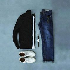 Capsule Wardrobe Grid ( Are You Satisfied  With Your Wardrobe? Find Out More. LINK IN BIO . . #mensfashionpost #mensfashion #streetstyle #dapperlydone