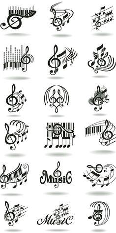 Music doodles Music Note Logo, Music Logo, Music Notes, Tattoos Musik, Music Tattoos, Body Art Tattoos, Music Crafts, Music Decor, Music Silhouette