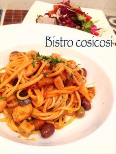 Bistro cosicosi❤︎ Today's Dinner❤︎ date❤︎2015.2  ⋈メカジキとナスのトマトソース  ⋈G.S ワインヴィネグレット  #ビストロコジコジ