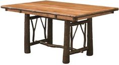 The Chelsea Home Furniture Enzo Twig Trestle Table is crafted in the United States by Amish artisans. Made of solid wood. and Cherry Stained Finish. These American made pieces are built with mastery. using mortise-and-tenon jo. Glass Round Dining Table, Trestle Dining Tables, Solid Wood Dining Table, Rustic Table, Dining Room Table, Rustic Chic, Mission Furniture, Amish Furniture, Rustic Furniture