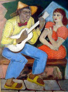 """A viola quebrada"" (1952-54) - Anita Malfatti  (1889-1964)"