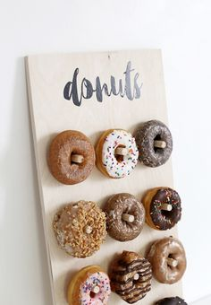 Definitely going to need this DIY donut wall at the wedding!