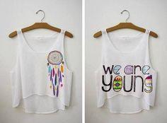 Inspiração para customizar T-shirt/cropped *-* #diy http://www.pinterest.com/luanarocha/diy/
