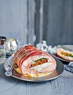Pancetta-Wrapped Scottish Lochmuir™ Salmon, Cod & Prawn Roast