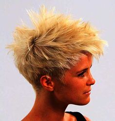 Punk Blonde Hairstyle Short Spiky Punk-Hairstyles-for-