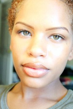 Light skin with african features. I am in love with her lips!