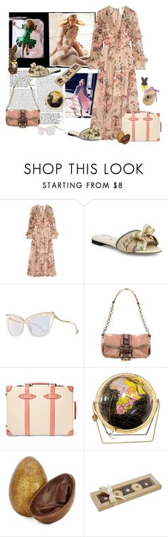 """""""Hunting Easter Eggs in Italy 🐣🐰🌷"""" by juliabachmann ❤ liked on Polyvore featuring Zimmermann, Fendi, Anna-Karin Karlsson, Prada and Globe-Trotter"""