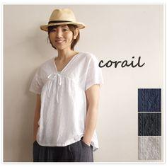 【corail コライユ】<br>コットン 刺繍 レース チュニック (3012678)