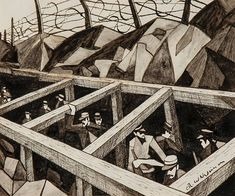 La Guerre des Trous by Chistopher Nevinson sets new record at auction World War One, First World, Ww1 Art, Manchester Art, English Artists, British Artists, Value In Art, Paintings For Sale, Art Google