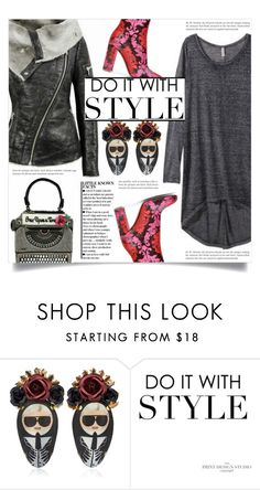 """""""Do it with style"""" by dolly-valkyrie ❤ liked on Polyvore featuring Bijoux de Famille"""