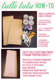 The Busy Budgeting Mama: DIY Tulle Tutu Tutorial...easy trick for cutting Tulle FAST!!!!