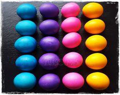 Eier färben Ostereier kochen und färben in einem Schritt Ich hatte eine Packung Farbrausch von Heitmann Die Far...
