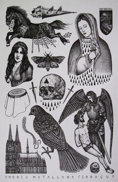 miss Schmerz: Foto pinwand: art, occult or tattoo Tattoo Flash Sheet, Tattoo Flash Art, Tatoo Art, Body Art Tattoos, Ship Tattoos, Gun Tattoos, Arrow Tattoos, Word Tattoos, Tattoo Ink