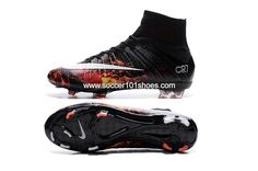 sale retailer 43bce 60c66 Nike Kids Mercurial Superfly CR7 FG Football Boots Soccer Cleats Black Red  Lava | Kids' Soccer Cleats