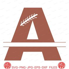 Digital Cut File, Split monogram Football Letters - Letter A, A, Game Day, Vinyl Cutting File, Football, SVG, DXF, EPS - Silhouette, Cricut by StudioSVG on Etsy