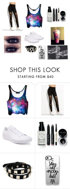 """""""Untitled #27"""" by kawaii-weirdo ❤ liked on Polyvore featuring Converse, Bobbi Brown Cosmetics, Valentino and Casetify"""