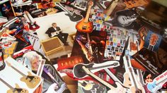 Guitars  legends  Collage kit  art pack   by madhattresscreations, $8.99