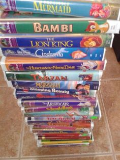 Disney VHS, this is not for my history, but my children, we got all of these for our kids.