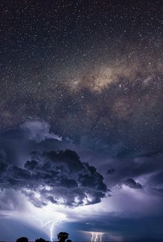 An awesome sight, the Milky Way shining brightly over the landscape. What made this even more special was to have to the Milky Way now over the top of the approaching storm systems. Sometimes, it's all about being in the right place at the right time. This is a single frame image.   Image credit: Jordan Cantelo , from Iryna